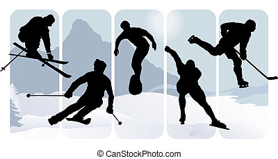 Wintersportsilhouette