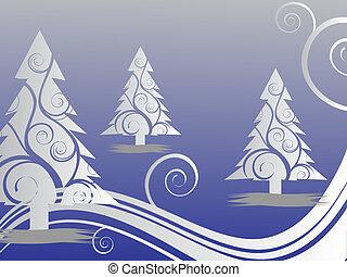Winterszene - Weihnachtskarte.