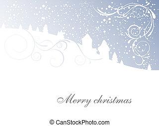 Winterszene - Weihnachtskarte