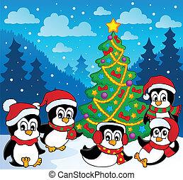 Winterthema mit Pinguine 3.