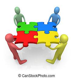 Wir arbeiten zusammen