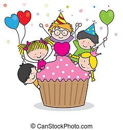 Wir feiern Geburtstagsparty
