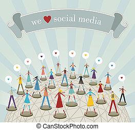Wir lieben soziale Medien