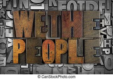 Wir sind die Menschen.