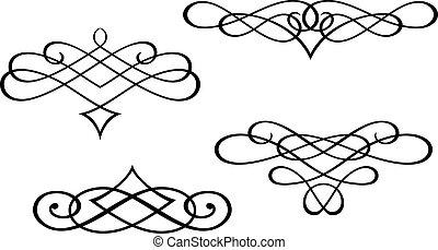 wirbel, monogramme, elemente