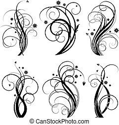 wirbel, schwarz, design