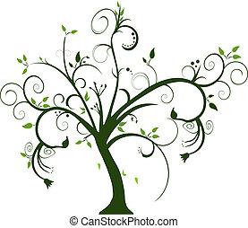 Wirbeliger Baum