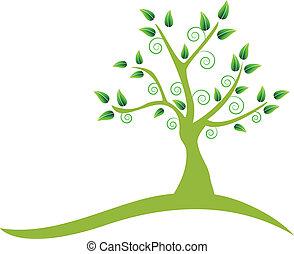 Wirbeliges Baum-Logo