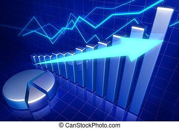 Wirtschaftliches Finanzwachstumskonzept