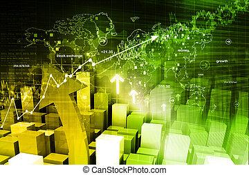 Wirtschaftsaktienmarktgrafik.