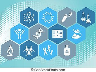 wissenschaft, biologie, heiligenbilder