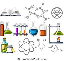 Wissenschaft und Chemie-Ikonen