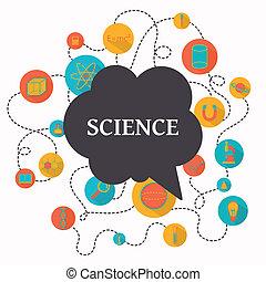 wissenschaft, vektor, hintergrund