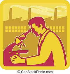 Wissenschaftler-Forschungsfabriken bauen Retro