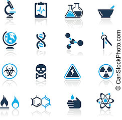 Wissenschaftliche Ikonen / Azure