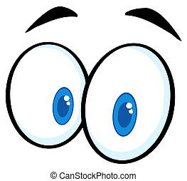 Witzige Cartoon-Augen