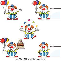 Witziger Clown 2. Kamera Satz