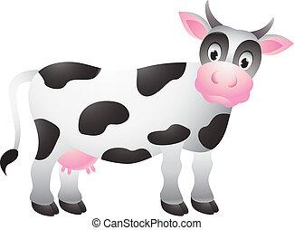 Witziger Kuh-Zeichentrick