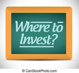 Wo man Nachrichten auf eine Tafel investiert.