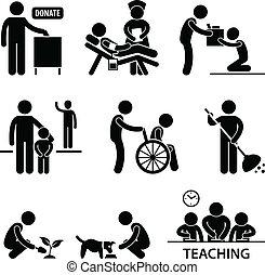 Wohltätigkeitsspende, Freiwillige Hilfe