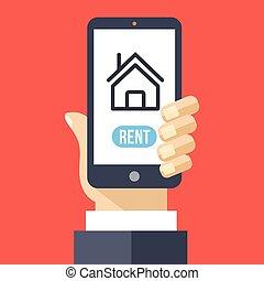 Wohnung App auf Smartphone-Bildschirm