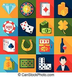 wohnung, kasino, heiligenbilder
