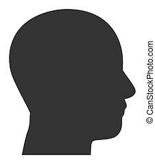 wohnung, mann, raster, ikone, abbildung, profil