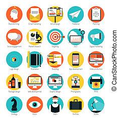 wohnung, satz, heiligenbilder, marketing, design, dienstleistungen