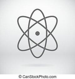 wohnung, symbol, zeichen, vektor, hintergrund, atom, chemie