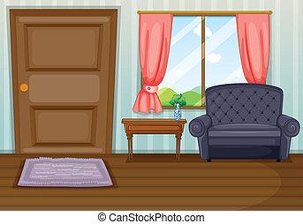 wohnzimmer, sauber