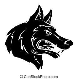 wolf, maskottchen