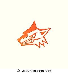 Wolfskopf-Icon, Logo-Vektordesign.