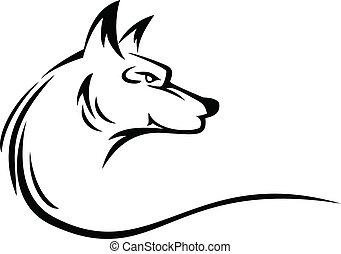Wolfskopf-Tattoo
