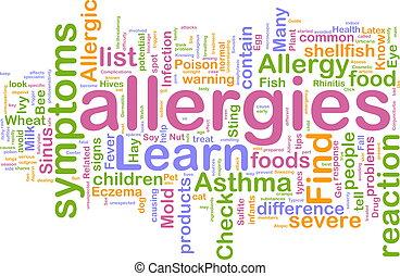 wolke, allergien, wort
