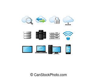 Wolken mit Ikonen
