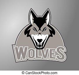 Wolves Illustration Design.