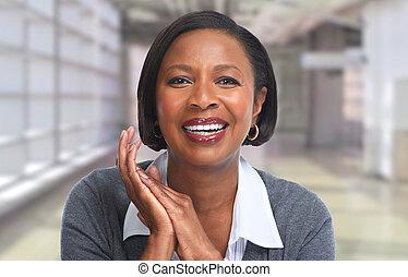 woman., geschaeftswelt, african-american