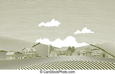 Woodcut Village