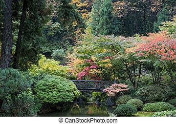 Wooden Bridge, japanischer Garten, portland, oregon