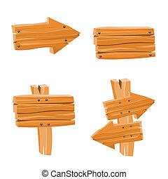 Wooden Vektorschilder