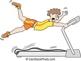 workout, schnell, tretmühle