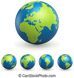 World Globe 3D Zeichen gesetzt