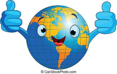 World Globus Charakter