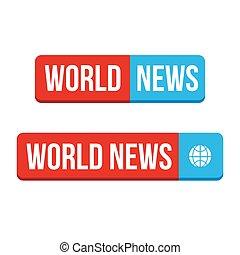 World News Button Vektor.