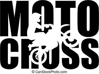 wort, motocross, silhouette, freisteller