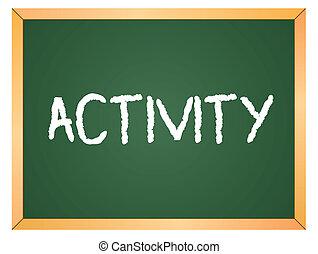 wort, tafel, aktivität