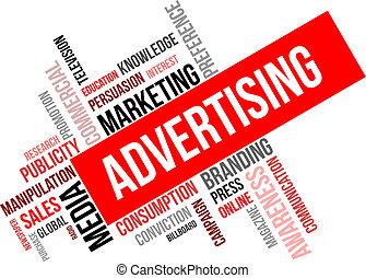 Wortwolke - Werbung