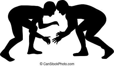 Wrestler kämpfen.