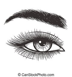 Wunderschöne Augenskizze