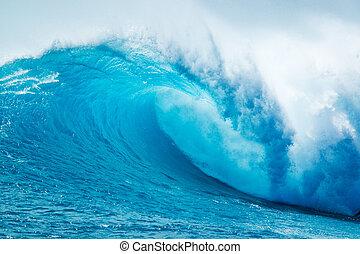 Wunderschöne blaue Meereswelle